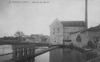 Le barrage et le moulin sur la Reyssouze