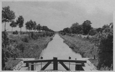 Le canal de Pont-de-Vaux depuis l'ancienne écluse