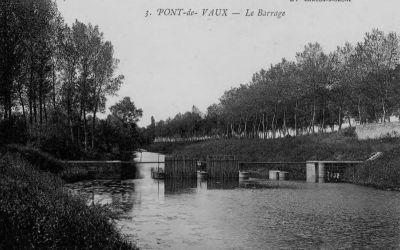 Barrage des aiguilles à l'aval du port de Pont-de-Vaux